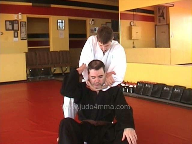 Click for a video showing a traditional Judo technique called Sode Guruma Jime - Sleeve Wheel Choke